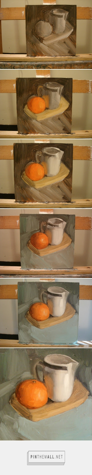 Timelapse for Mandarin Orange and Cream Pitcher / By Michael William /     http://worksbymwilliam.blogspot.com/