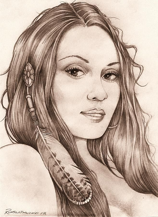Beautiful Indian Girl Drawing - Beautiful Indian Girl Fine ...