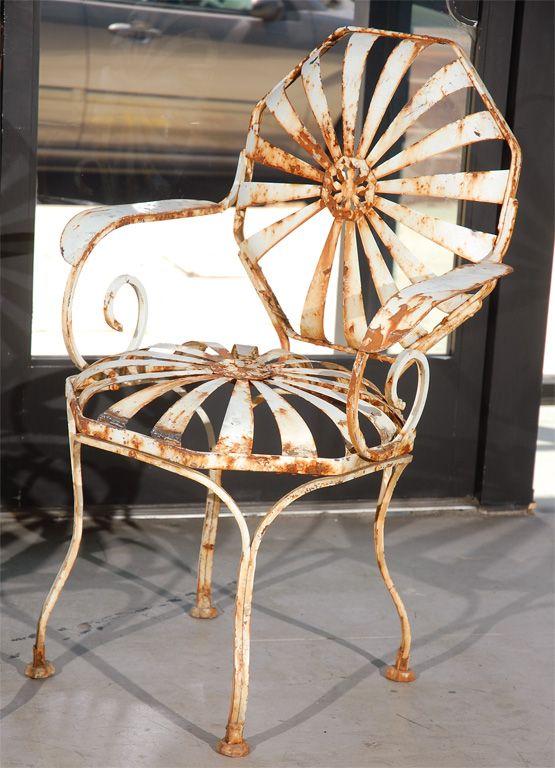 Vintage Metal Garden Chairs 1stdibs Com Garden Chairs Metal Metal Garden Furniture Vintage Outdoor Furniture