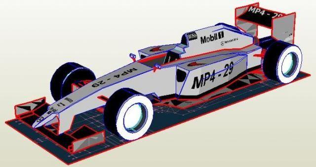 S Mclaren Formula Racing Car Paper Model By Keroliver