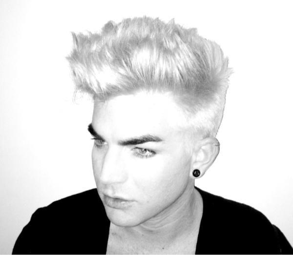 Adam Lambert On Bleach Blonde Adam Lambert Dyed Blonde Hair