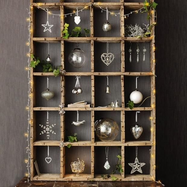 Is your windows already filled with decorating items. Need a little more display room. I like this idea!