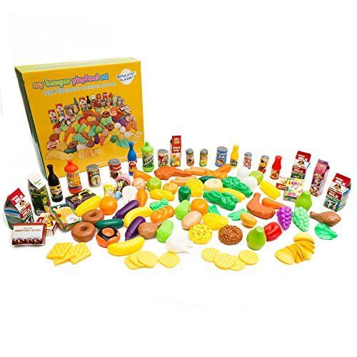 6c055e159de6 Pretend Food Toy Play Set - Huge 125 Piece Ultimate Kitchen Set - Great for Play  Food Kitchen Toys