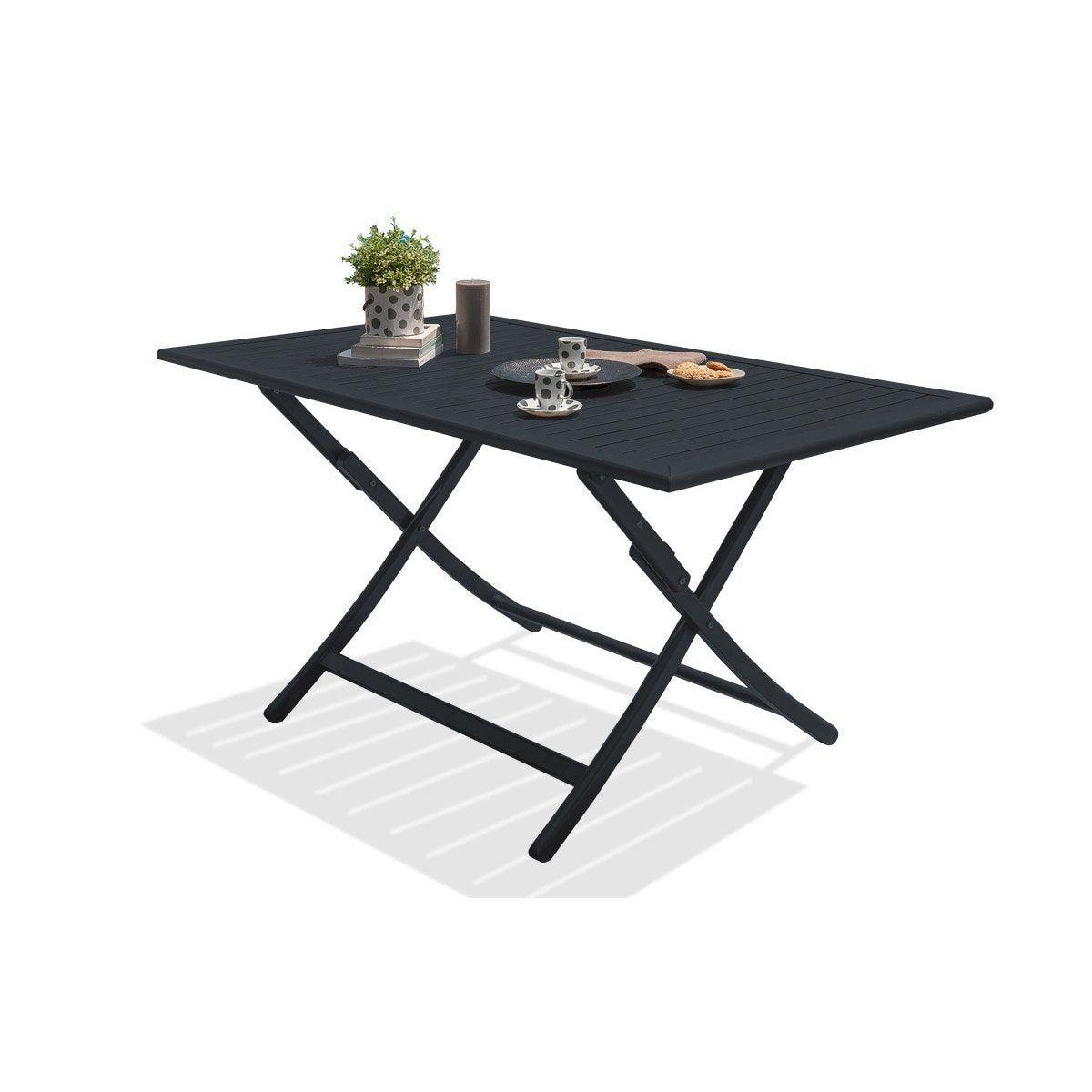 Table De Jardin Aluminium Bois Resine Au Meilleur Prix Leroy Merlin En 2020 Table De Jardin Table De Jardin Pliante Chaise De Jardin