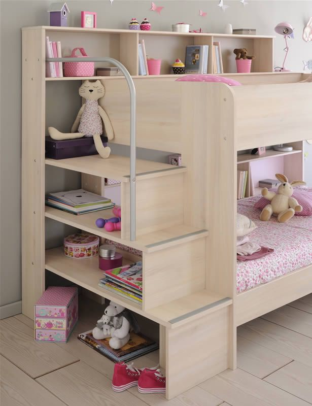 Kids Avenue Bibop 2 Bunk Bed With Storage Shelves | The Home And Office  Stores