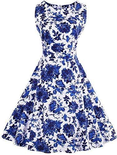 Scoop Neck Sleeveless Retro 1950s Vintage Hollywood Star Party Midi Dress #hollywoodstars