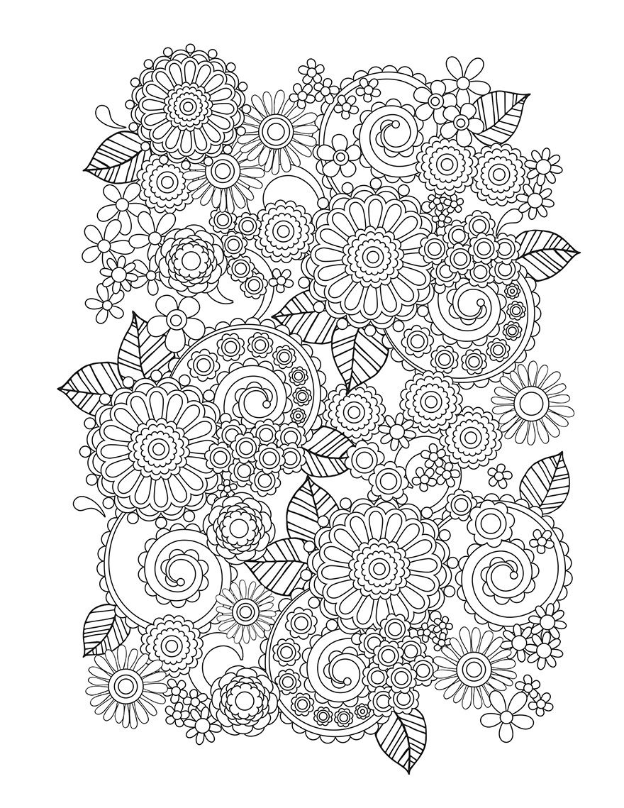 Coloring book pages pinterest - Flower Designs I Create Coloring Books To Stimulate Creativity Bored Panda