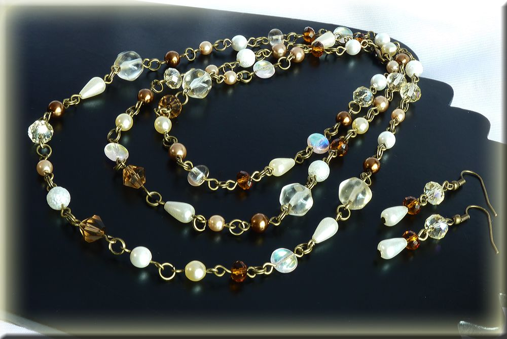 You can wear this as a single strand or doubled or as a multi strand bracelet