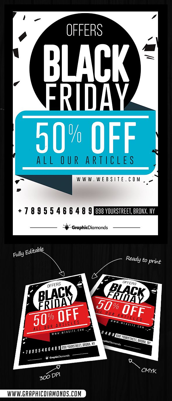 Black Friday Sales Flyer by GraphicDiamonds on