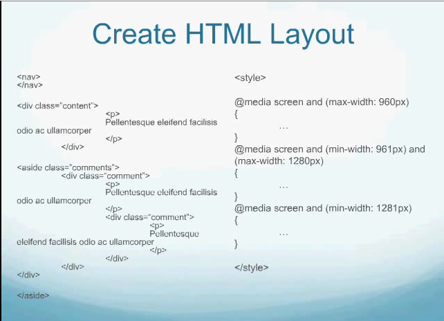 Css Basic Media Query Structure For Screen Sizes Responsive Web Design Web Design Content Media Learn To Code