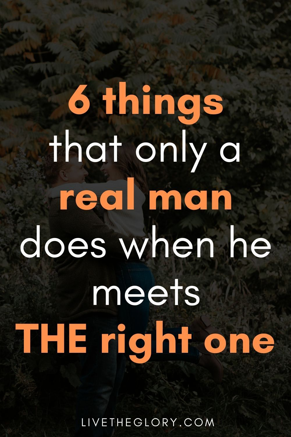 6 things that only a real man does when he meets T