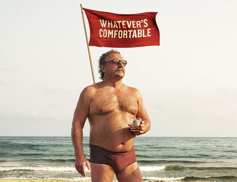 Southern Comfort Man On The Beach Is A Boss With The Walk