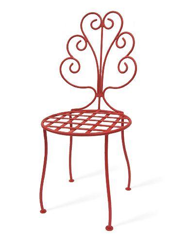 Cadeira de ferro para jardim modelo Orquídea