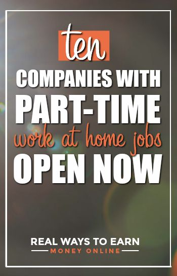 Part Time Work From Home Jobs 10 Companies Hiring Legitimate Work From Home Work From Home Jobs Home Jobs