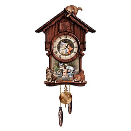 Jürgen Scholz Kitten Art Cuckoo Clock