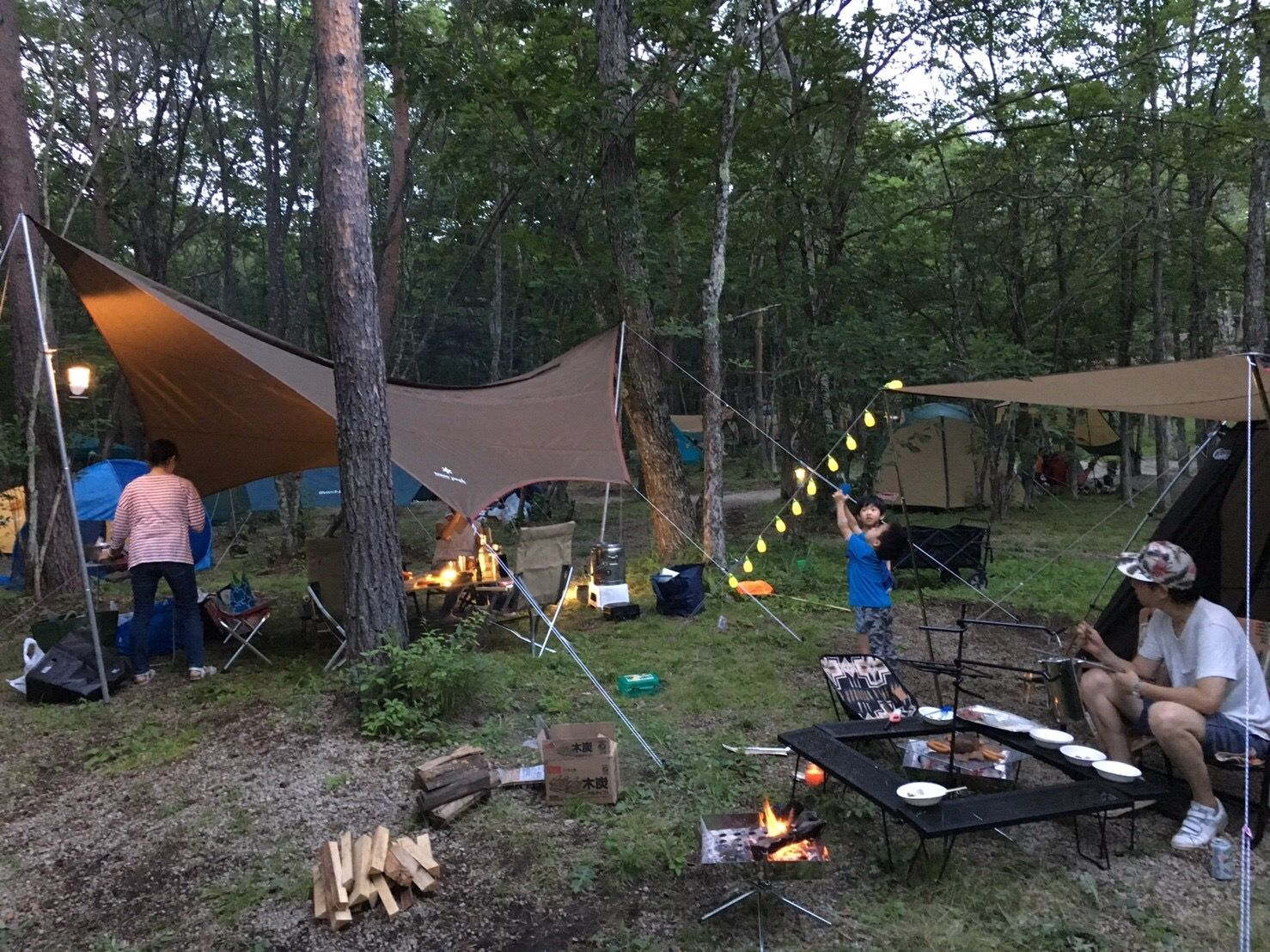 camping in the woods feels so good especially family and good