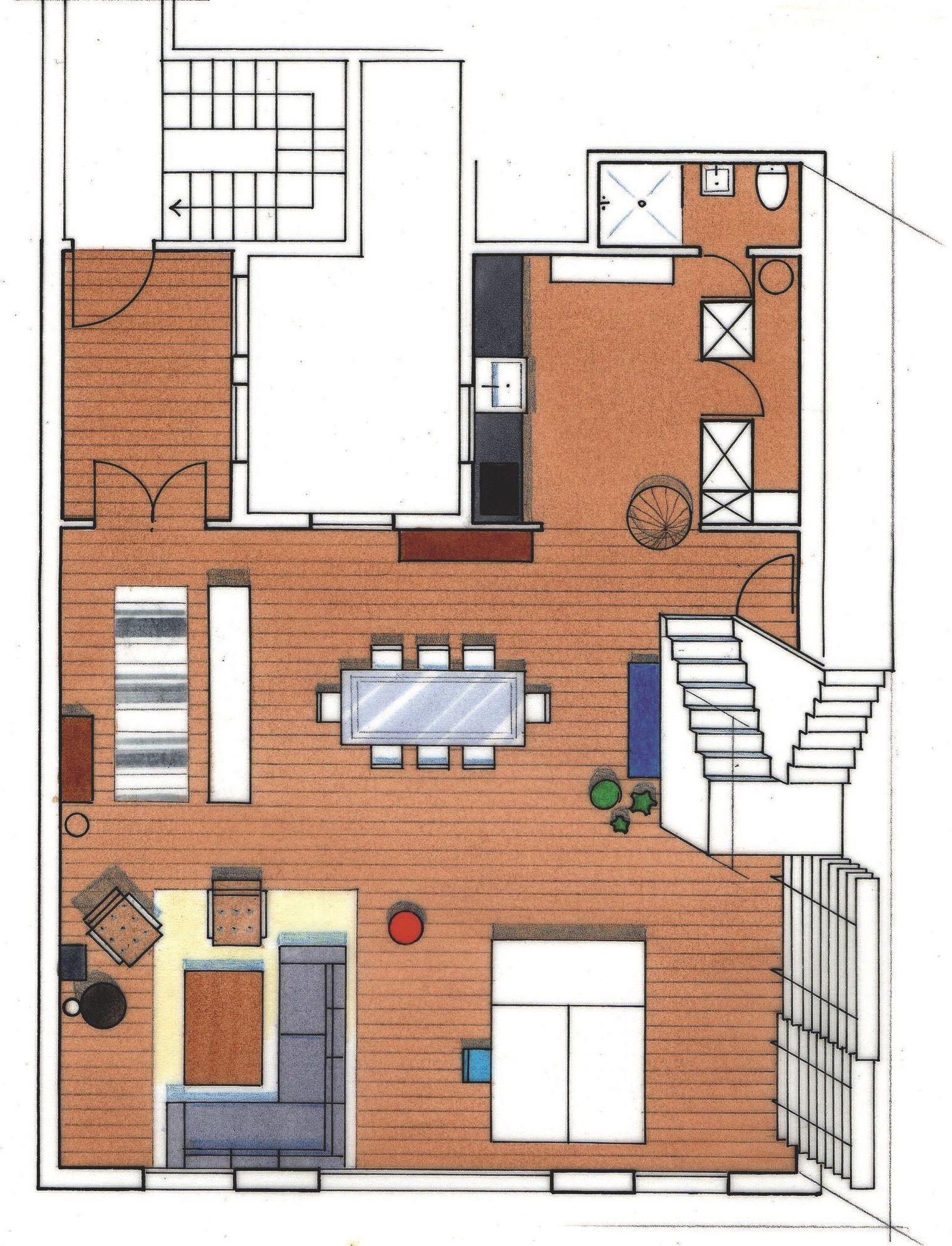 Loft d 39 architecte madrid de 175 m2 architectes madrid - Realiser plan de maison ...