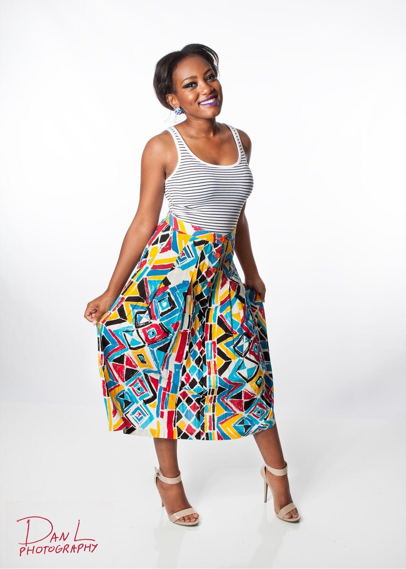 90s Vintage Maxi Skirt