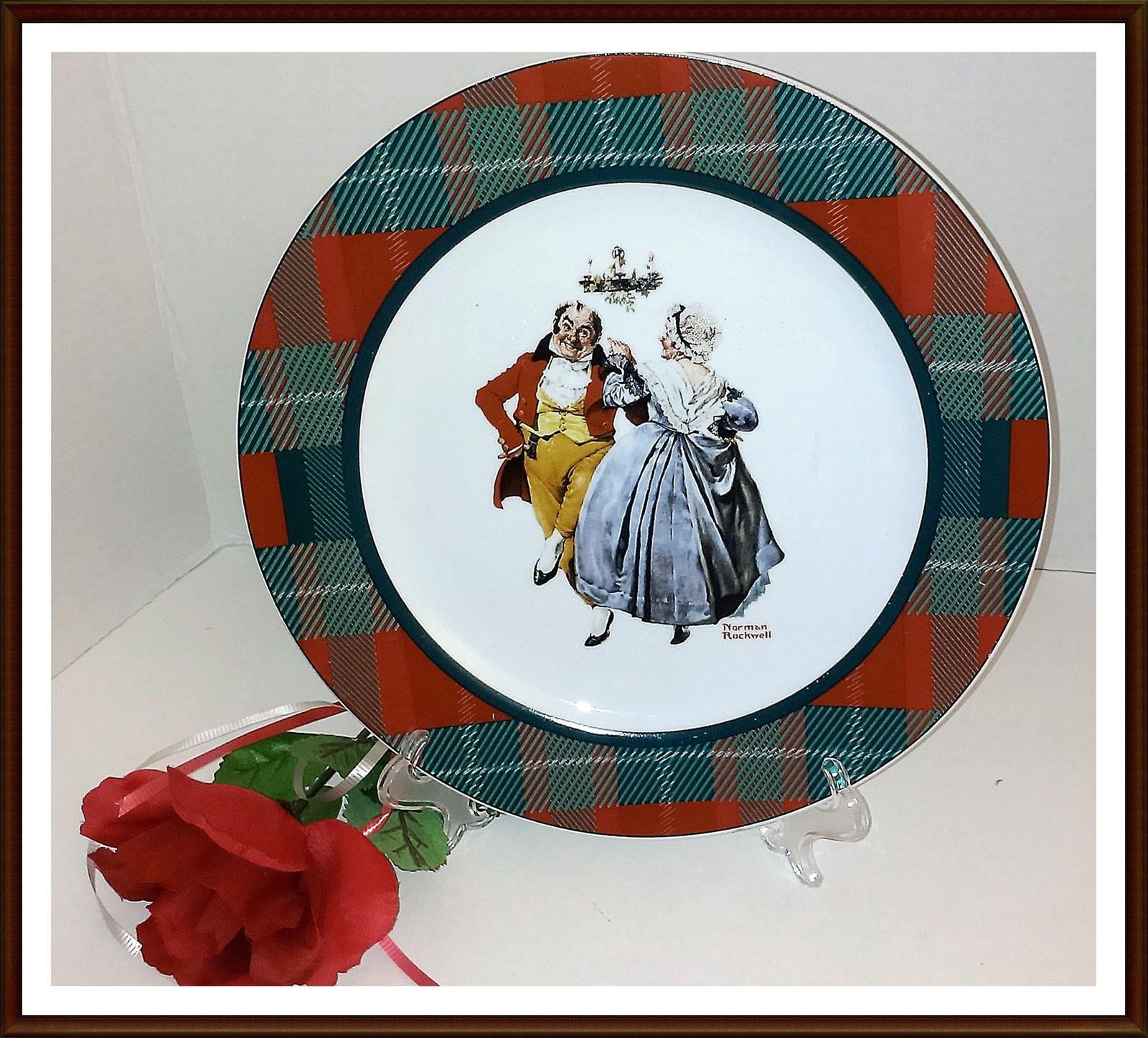 Norman Rockwell Christmas Plates/ Merrie Christmas (Couple Dancing ...