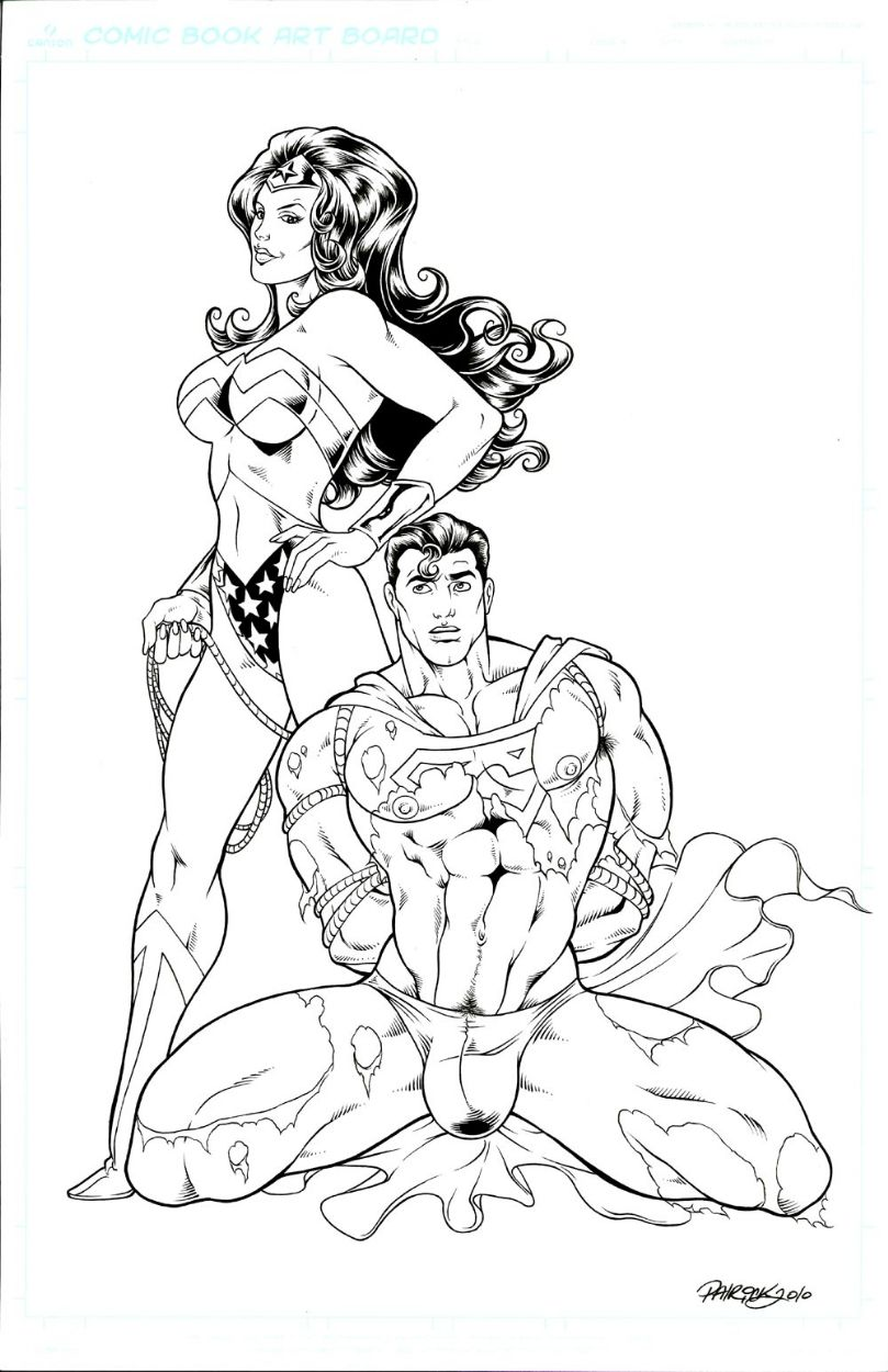Hell Yeah Superman-n-Wonder Woman • Another rather sexy