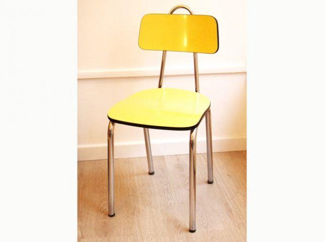chaise formica jaune d tails de la maison pinterest. Black Bedroom Furniture Sets. Home Design Ideas