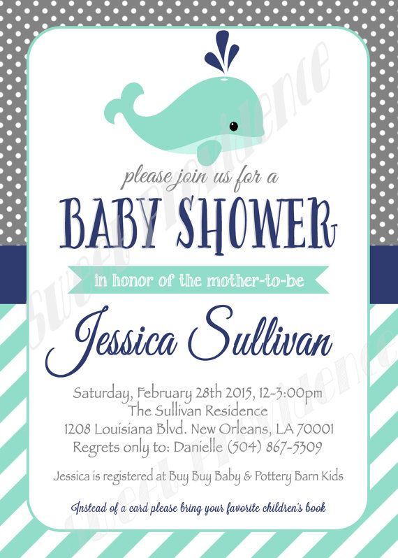 Whale Baby Shower Invitation Template from i.pinimg.com