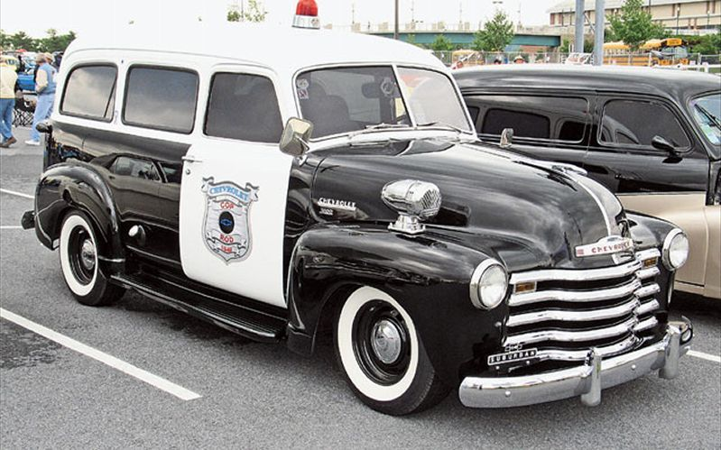 1951 Chevy Suburban Police Cars Police Truck Old Police Cars