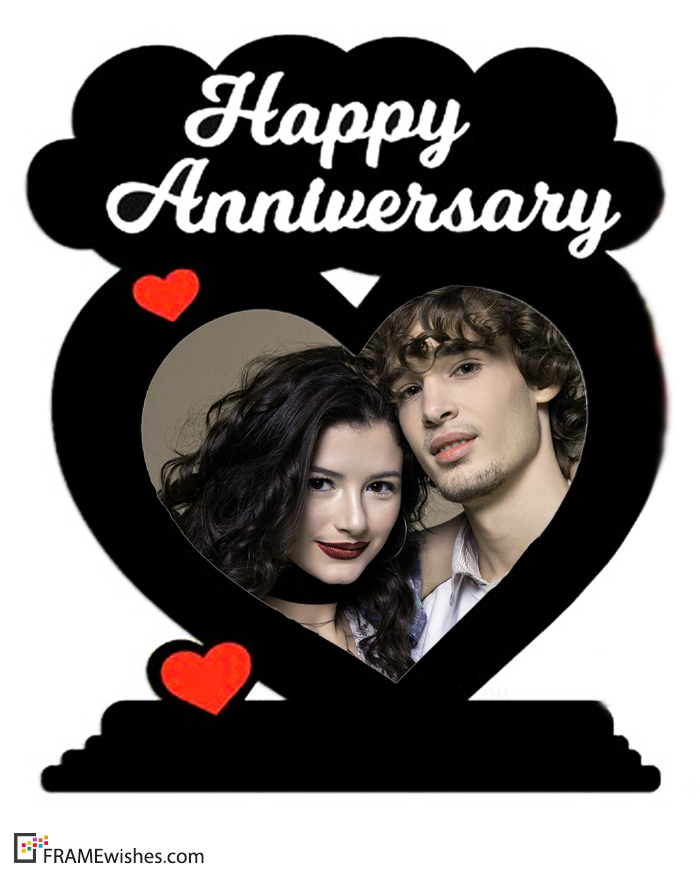 Heart Love Anniversary Photo Frame Happy Wedding Anniversary Wishes Happy Anniversary Wedding Happy Anniversary Photos