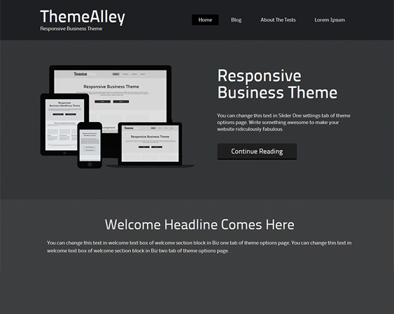 This free dark WordPress theme includes HTML5 and CSS3 code, a ...