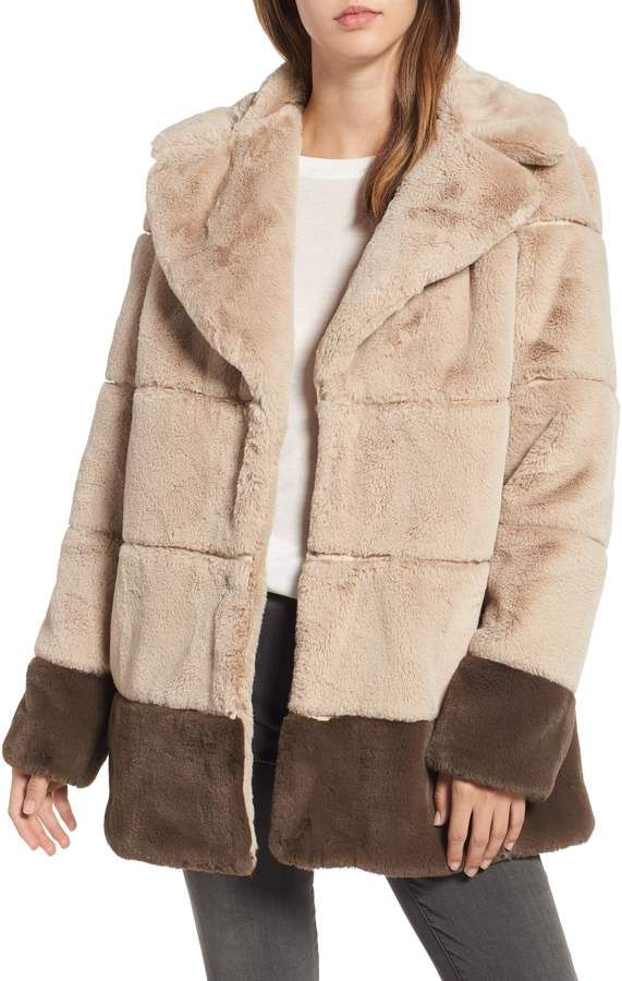a892eb15e Rachel Roy Colorblock Panel Faux Fur Jacket | Products in 2019 ...