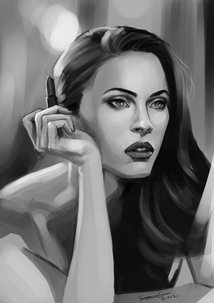 Megan Fox - By Clayton Barton #art,  #digitalart, #digitalpainting, #meganfox