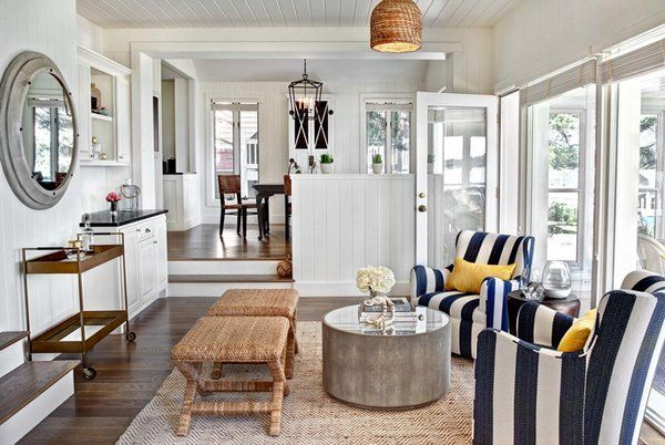 20 Nautical Home Decorations in the Living Room images