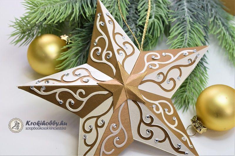 8eedab7b76 DIY Paper cut star - easy Christmas decor (free printable) // Áttört hatású  papír csillag - karácsonyi dekoráció ( nyomtatható sablon ) // M… | vianoce  ...