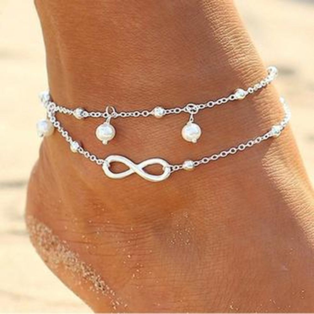 materials with jewelry cool anklet and on a best seaside colors sea bracelets beach layered rings images stacked ankle shells simple pinterest starfish