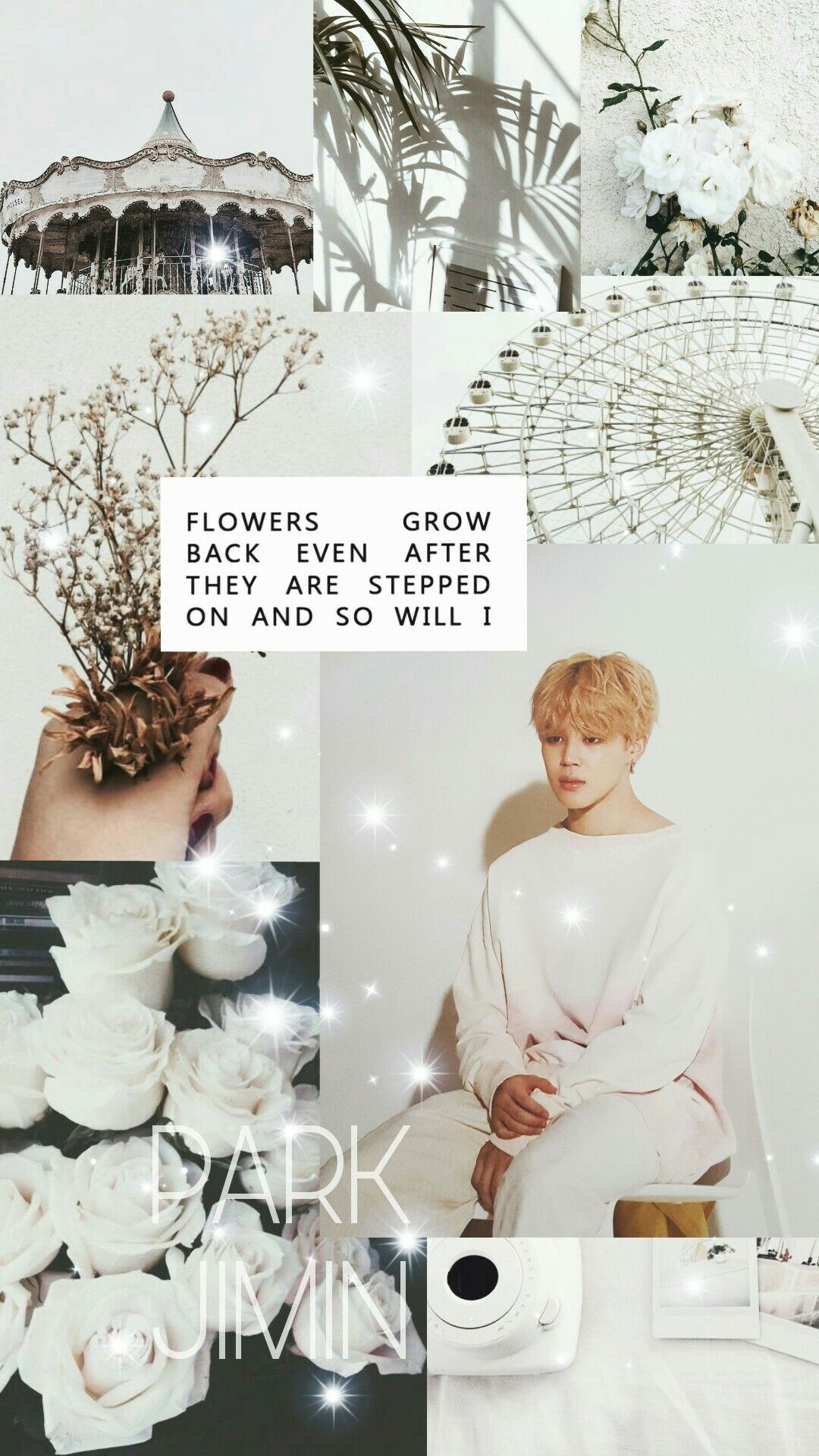 Park Jimin BTS white aesthetic wallpaper lockscreen i love
