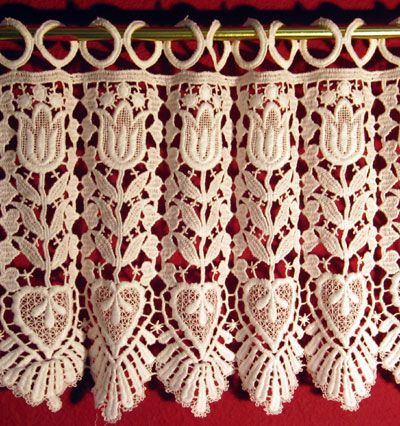Beautiful Tulip Macrame Lace Curtains From Heritage