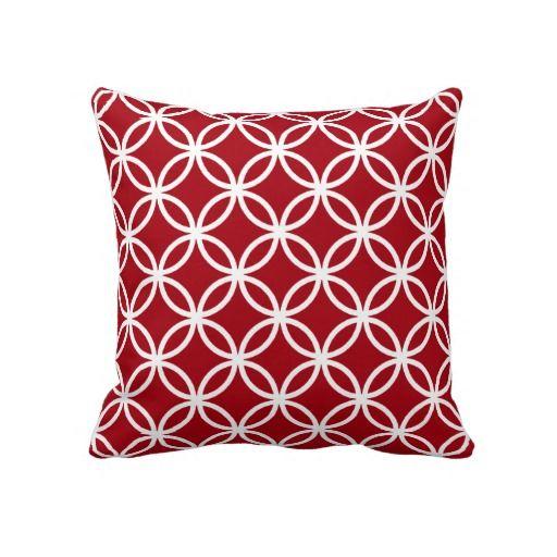 6116e416e7 Red Connected Circles Throw Pillows | Pretty Pillows | Pink throw ...