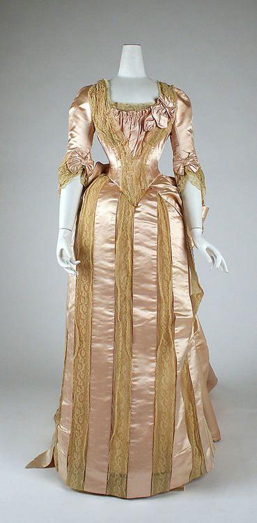 fashionsfromhistory: Evening Ensemble 1883-1884 British MET