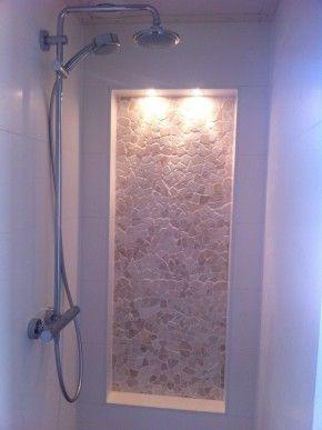 Onze douche met nisje en spotjes dimbaar! (bijna klaar) | Interior ...