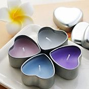 mooie kaars met hart gevormd tin houder (meer... – EUR € 1.61