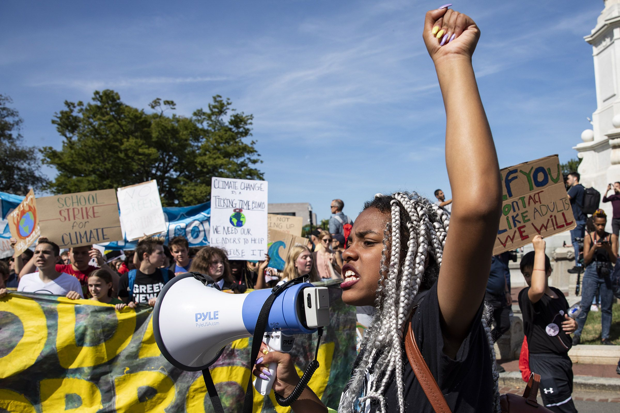 Global Climate Strike Greta Thunberg Students Lead Protest Time Climate Action Paris Climate Climates