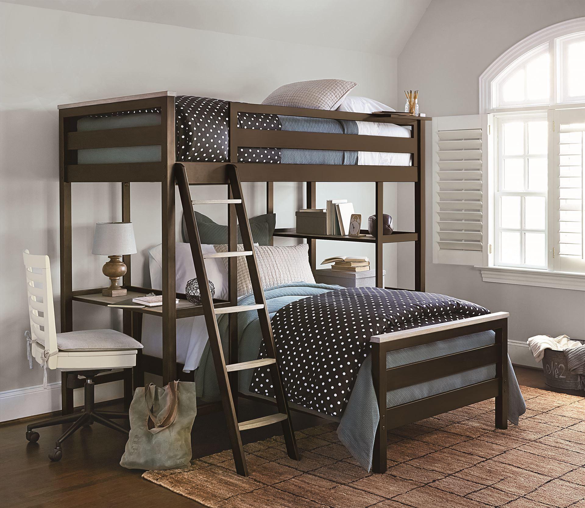myRoom Bunk Bedroom Set (Parchment/ Gray) in 2020 Loft