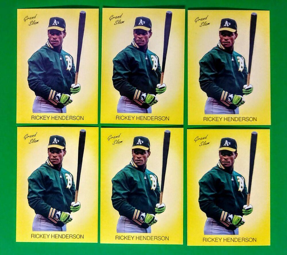 6 count 198990 grand slam rickey henderson baseball