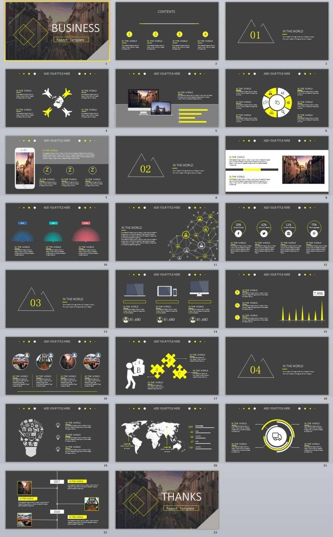 23+ gray business chart design powerpoint templates | 2018, Modern powerpoint