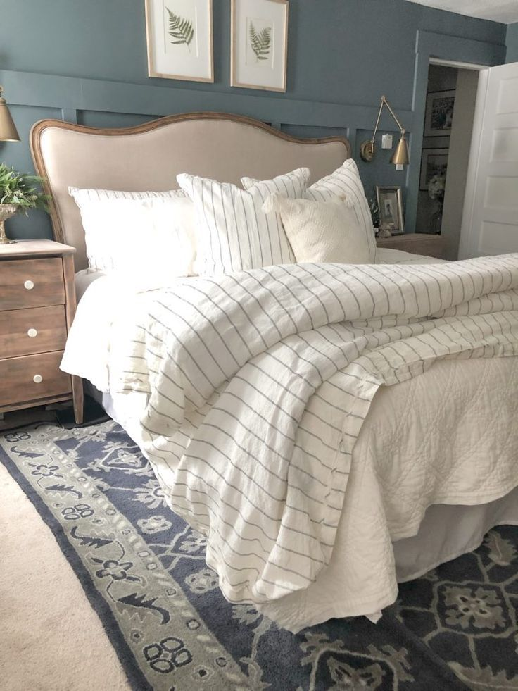 Goals For 2019 Beautiful Farmhouse Bedroom With Dark