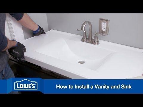 Install A Bathroom Vanity And Sink Diy Bathroom Diy Bathroom Vanity Bathroom Sink Vanity