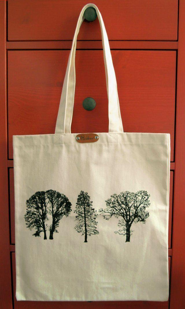2c7fee2a4246f Drzewa - torba z grubego płótna bawełnianego
