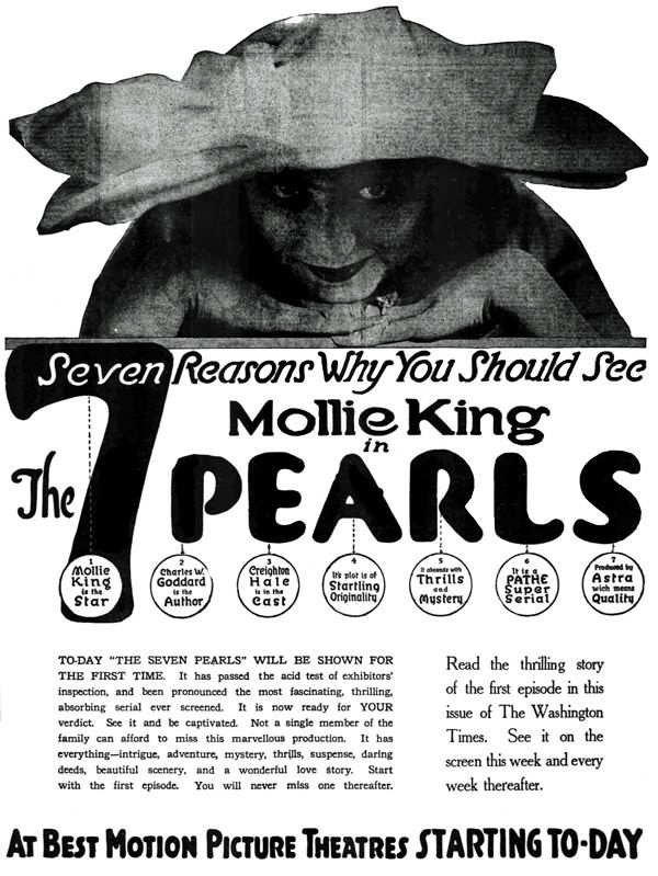 Mollie King in The Seven Pearls (1917)