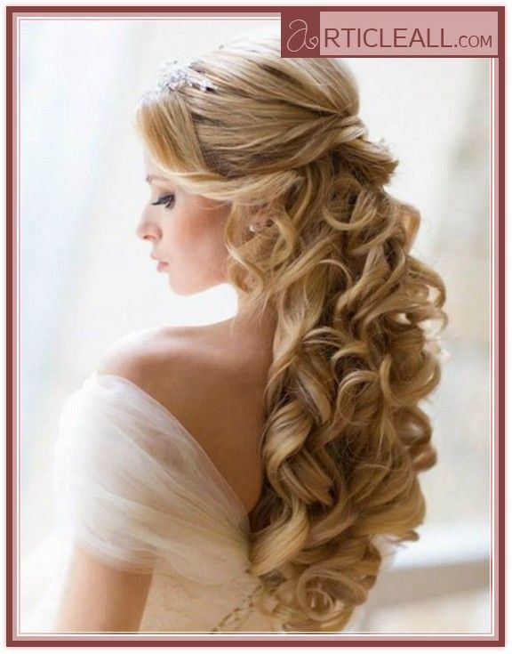 Long hairstyles with curls wedding