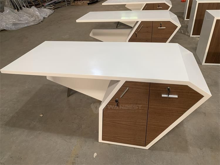 Solid Surface Modern Office Desk Desk